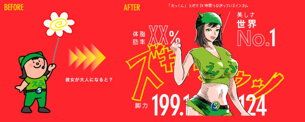 キャラクターデザインえっちゃん